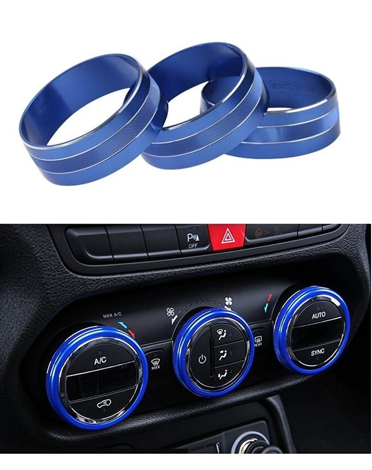 Amazon.com: E-cowlboy Interior Audio Air Conditioning Button Cover Decoration Twist Switch Ring Trim for Jeep Wrangler JK JKU Compass Patriot 2011 2012 2013 2014 2015 2016 3PC/SET (Blue): Automotive