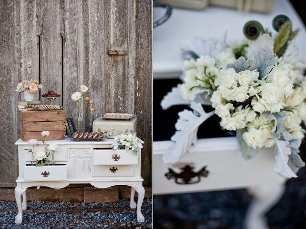 Perfect Inspirations, Vintage Dresser Cake Table Shower Favor White Green Wedding  Flower Arrangement Ideas: Vineyard Photo Gallery