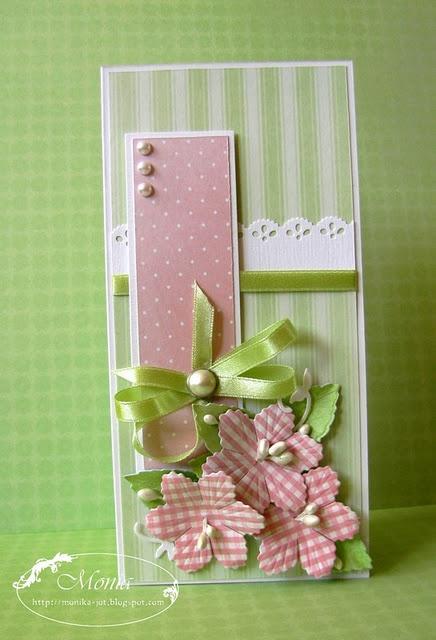 Pink & Green . . . such a fresh, pretty card
