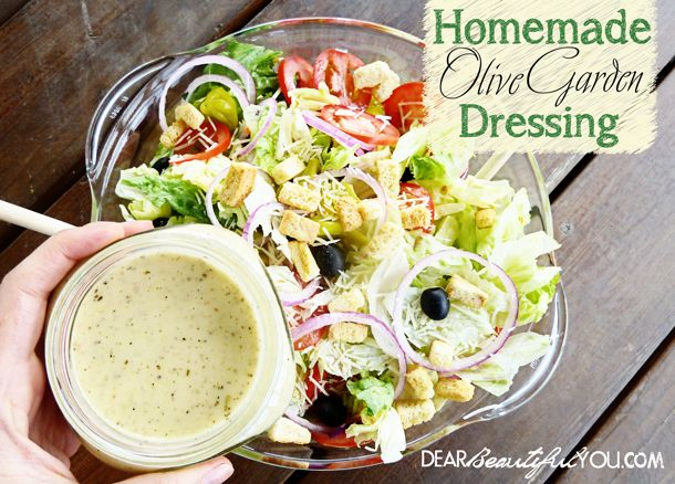 Homemade Olive Garden Salad Dressing Copycat Recipe Gardens Homemade And Looking Forward