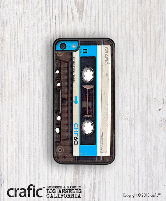 Blue Vintage Cassette Case    ■ Available For iPhone 5C, iPhone 5, iPhone 5S; iPhone 4, iPhone 4S; ■ Ultra Slim Fit    ■ Quick & Easy Snap On    ■ Full