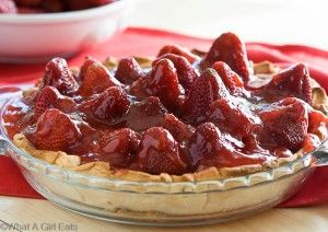 Fresh Strawberry Pie with Cream Cheese Filling