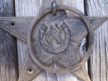 """Cast Iron Star Horse Towel Ring Hook Holder See this item here http://www.ebay.com/itm/Cast-Iron-Star-Horse-Towel-Ring-Hook-Holder-/230684856999 See more items from """"Eclectic Cabinet Knobs & Decor"""" http://stores.ebay.com/Eclectic-Cabinet-Knobs-And-Decor"""