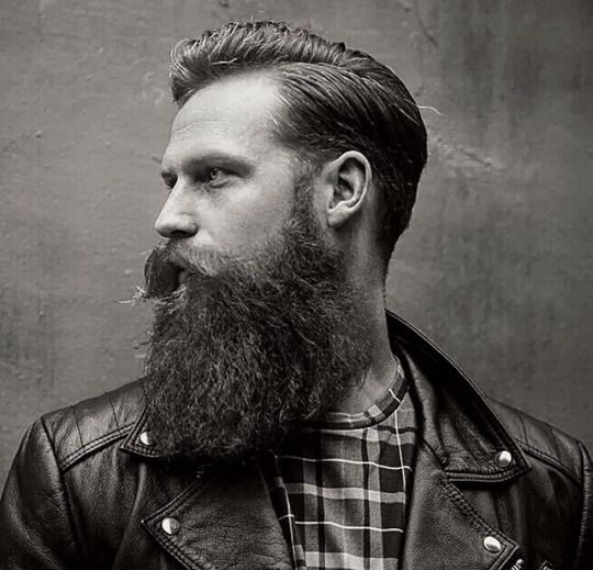 beautiful profile shot of a full thick beard mustache beards bearded man men bearding #beardsforever