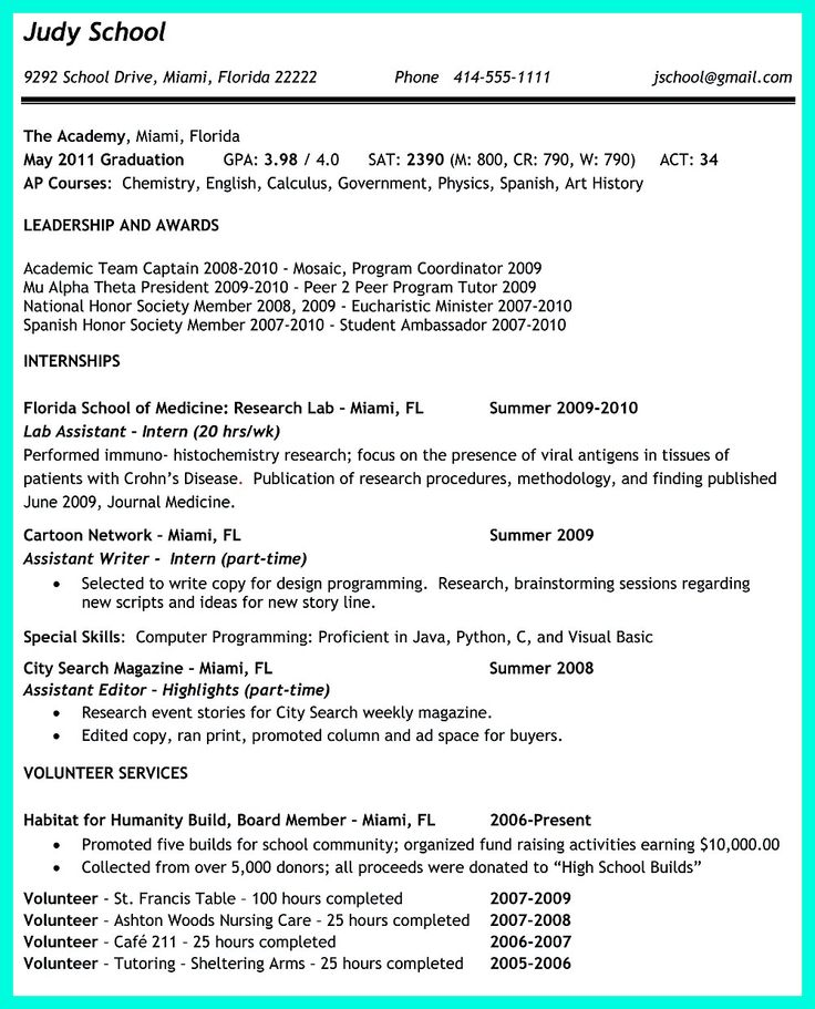 Best 25+ Sorority resume ideas on Pinterest Sorority girls - college resume examples for high school seniors