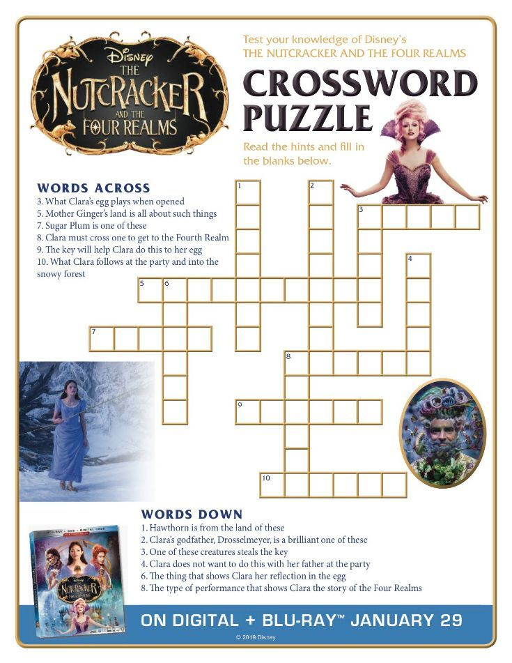 Free Printable Disney Nutcracker and The Four Realms