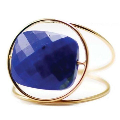 ENVIE #7 La bague Grand Regard en or jaune et lapis lazuli de Paola Zovar