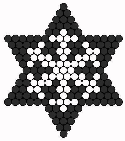 Snowflake Perler Patrón bolas   bolas Sprites   Vacaciones fusibles de bolas Patrones