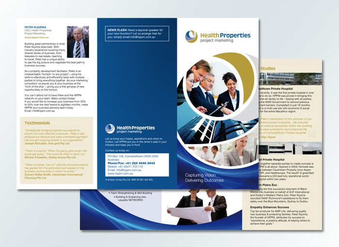 Health properties project marketing dl brochure design by for Dl brochure template