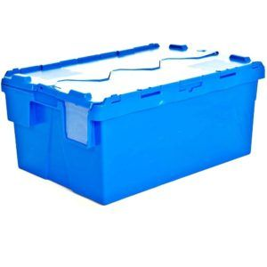 Heavy Duty Plastic Storage Box With Attached Lid