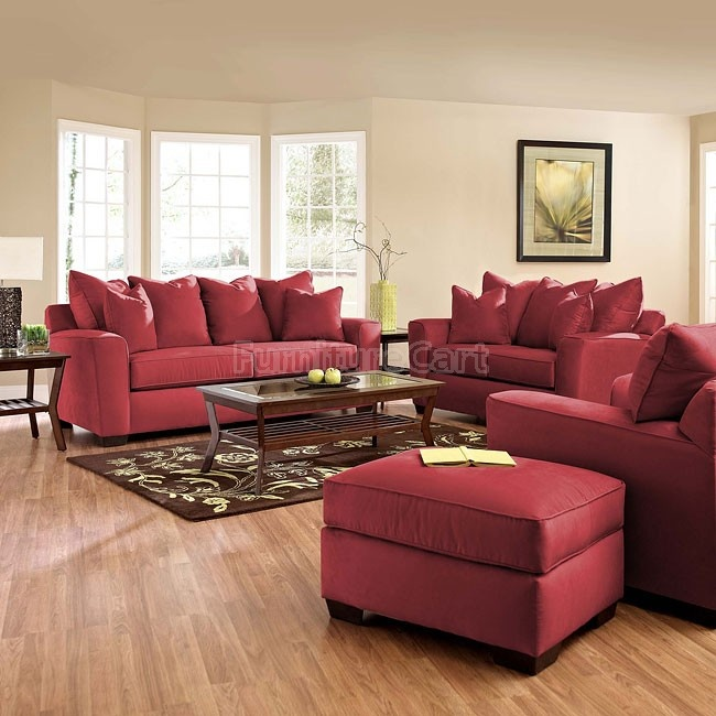 Cheapest Living Room Sets: Heather Living Room Set (Cinnabar) In 2019