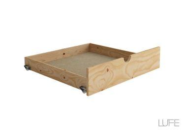 El LUFE Cajón individual tiene gran capacidad. Permite guardar todo bajo la cama y que el dormitorio quede en perfecto orden para la hora de ir a dormir. La mejor solución de almacenaje para que nada te quite el sueño. #MueblesLUFE #MueblesDeMadera