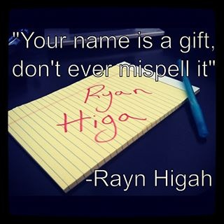 From Rayn Higah