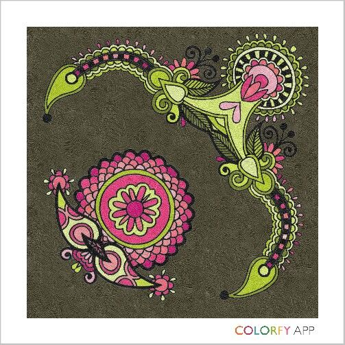 By @missalissam ! #colorfy #colorfyapp #getinspired #oriental #pattern #artwork #inspiration #chill #relax #meditation #zen #happy #coloring