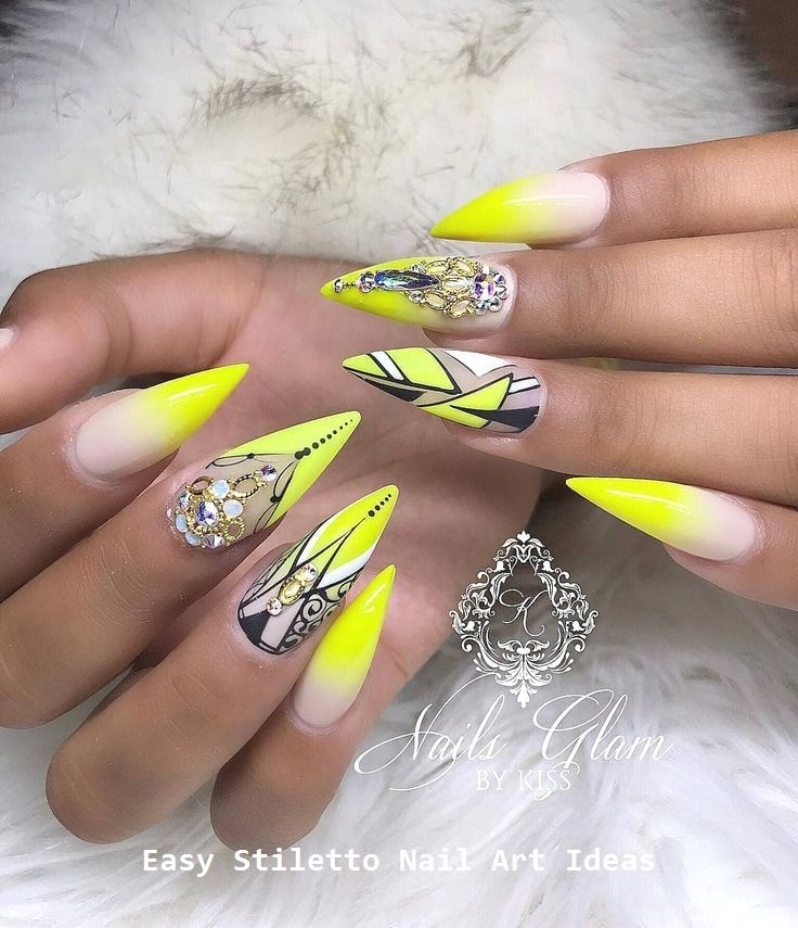30 Great Stiletto Nail Art Design Ideas #stilettonails #naildesigns – Stiletto Nail art