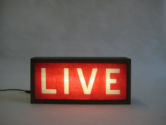 Live Wooden Lightbox Sign Lighted Hand Painted Signs Etsy Light Box Sign Hand Painted Signs Painted Signs