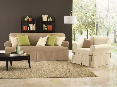 sure fit slipcovers easy on the budget new cotton canvas one piece slipcover collection
