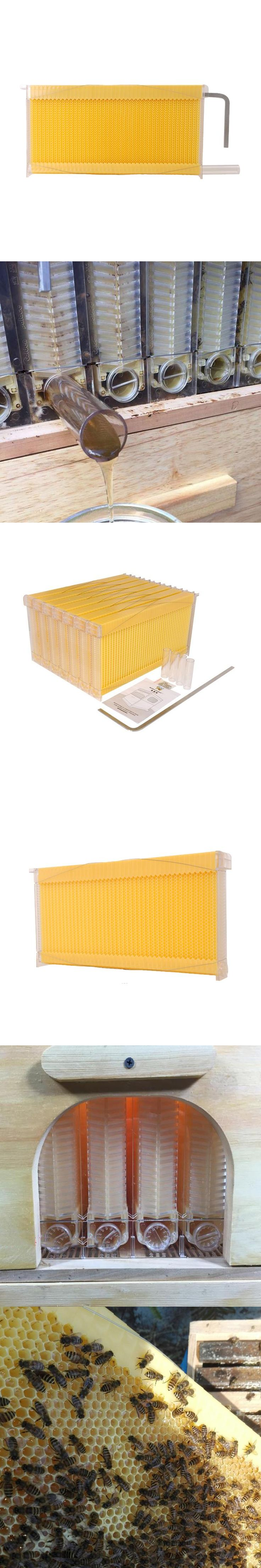 Free shipping smart automatic honey flow hive 4 frames for honey bee hive honeycomb beehive colmena hive flow Automation Kits