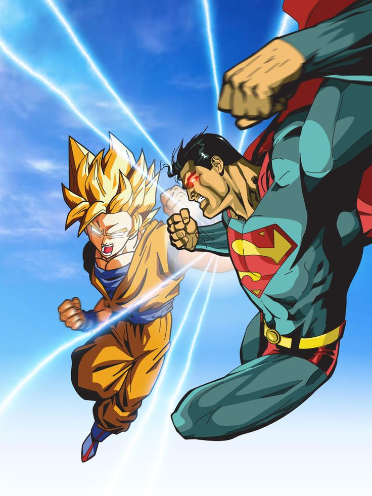 Superman vs Goku - Goku wins!!!! | Dragon Ball Z | Pinterest