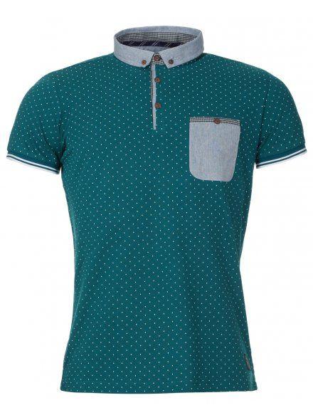 Emerald Green Polka Dot Polo Shirt
