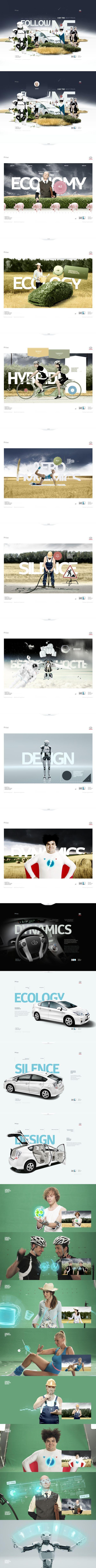 #Toyota #Prius by Alex Kudryavtsev, via #Behance #Webdesign