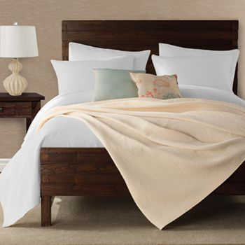 Peyton Cable Knit Coverlet King In White Bed Spreads