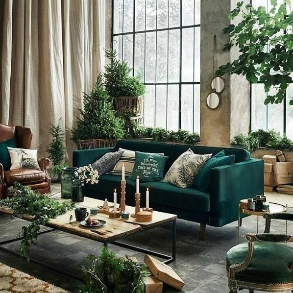 47 Inspiring Emerald Green Sofa Designs For Living Room Dark