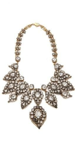 FREE SHIPPING at shopbop.com. An elaborate crystal necklace from Erickson Beamon shimmers with an ornate bib of Swarovski crystals. Lobster-claw clasp. 24k gold plate. Made in the USA.... More Details