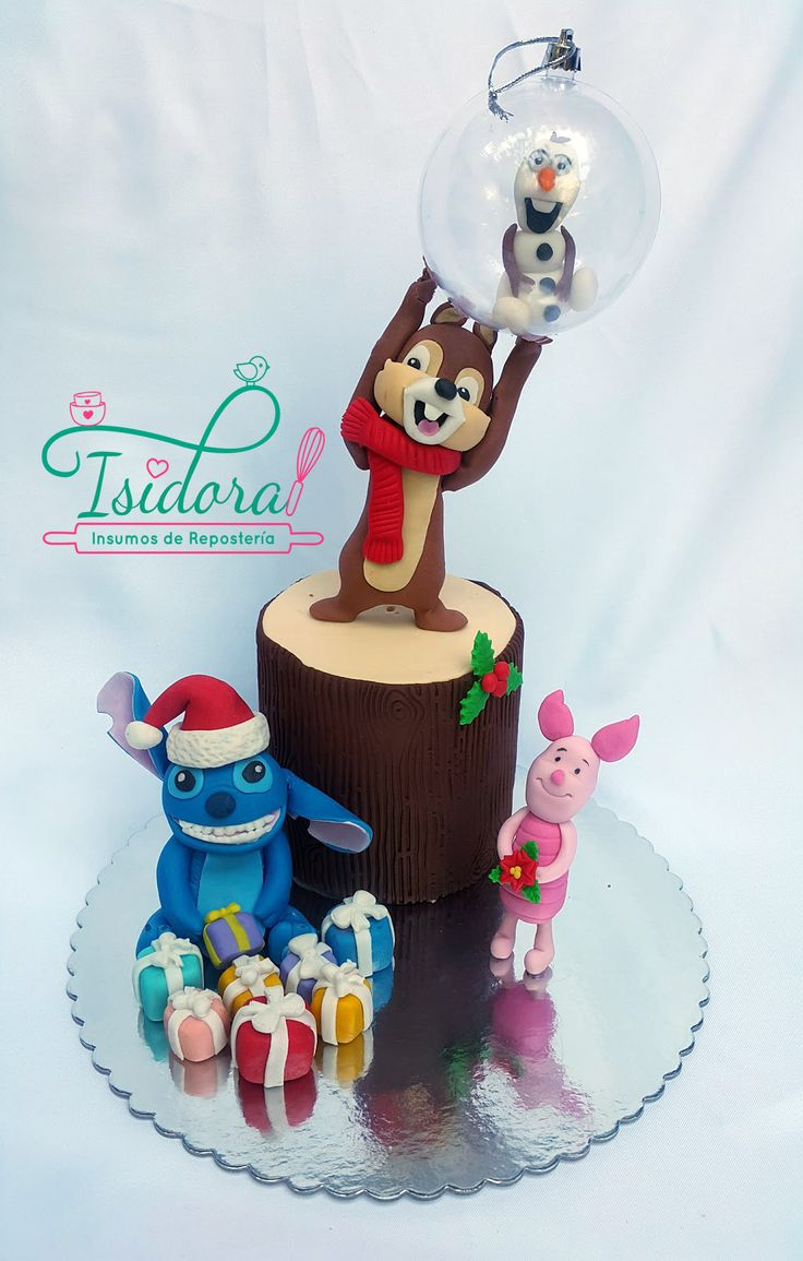 Sweet Christmas Collaboration Chile. Disney Cake Fondant by Catalina Martínez Vilches