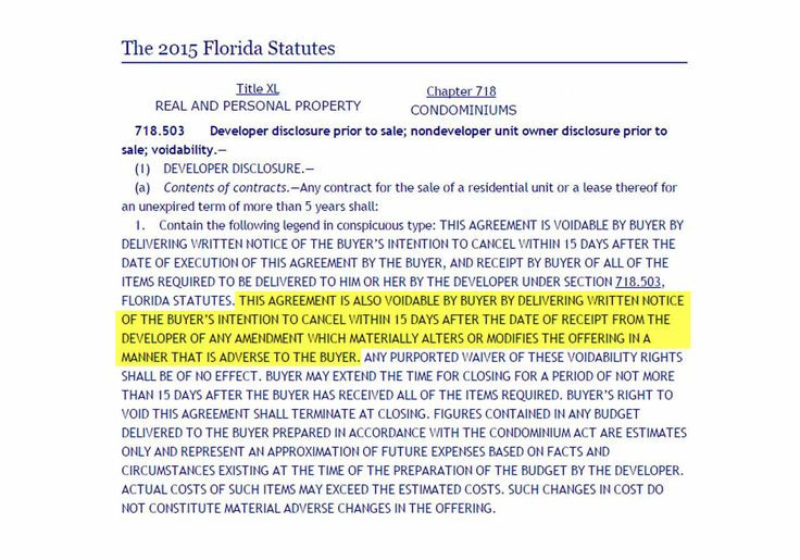 Florida Law Could Allow Condo Buyers to Cancel if Developer Makes Changes
