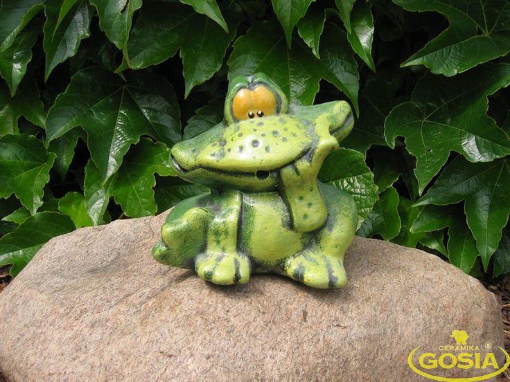 Żabka średnia - figurka ceramiczna ogrodowa