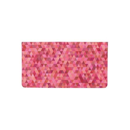 Pink Triangles Checkbook Cover - pink gifts style ideas cyo unique