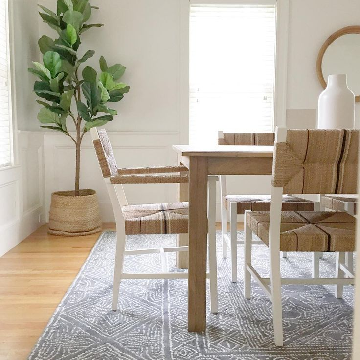 Dining Room By Meredith Serena Lily Mirabelle Rug And Carson Chairs A Restoration Hardware Table