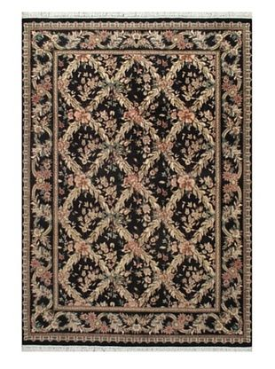 83% OFF Hand-Knotted Double Knot Oriental Rug, Navy, 6' x 8' 7
