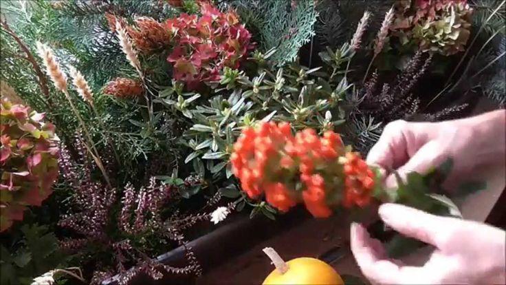 Jana Melas Pullmannová: Jesenná dekorácia na okno