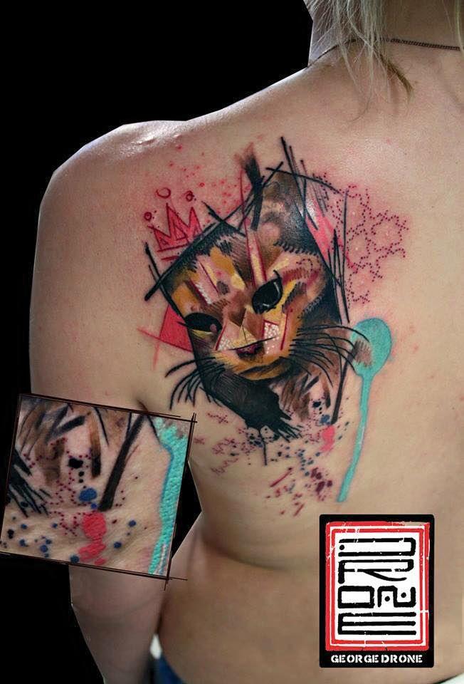 Abstract ''Queen Balu'' design (memorial tattoo). Done about June 14'. With #starbritecolors. ✅Facebook: https://www.facebook.com/Dronart ✅Instagram: https://www.instagram.com/GeorgeDrone ✅Website: www.dronart.gr