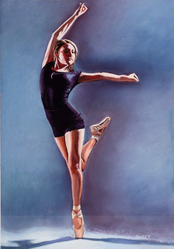 The dancer -en Pointe - Paintings