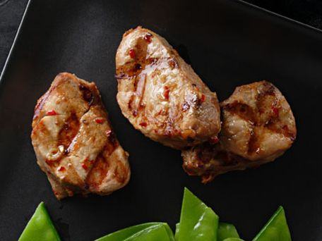 Grilled Pork Tenderloin Marinated in Spicy Soy Sauce Recipe