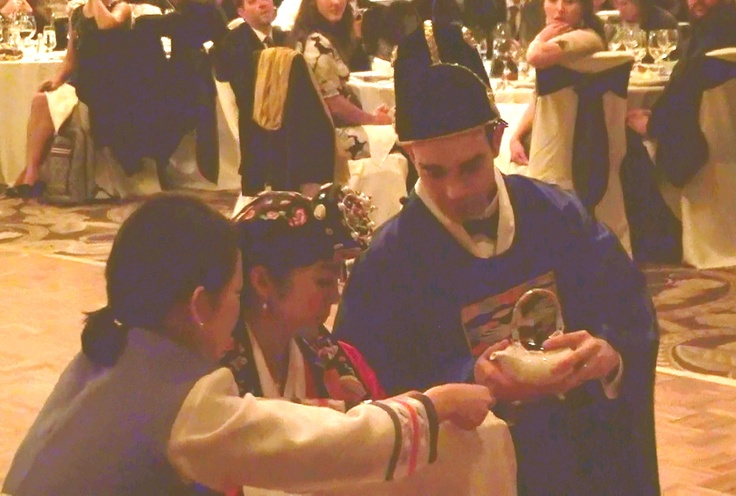 In many Korean-American weddings, the Paebaek is held during the reception, to allow the Korean family to share its tradition with non-Korean guests. http://www.discjockey.org/