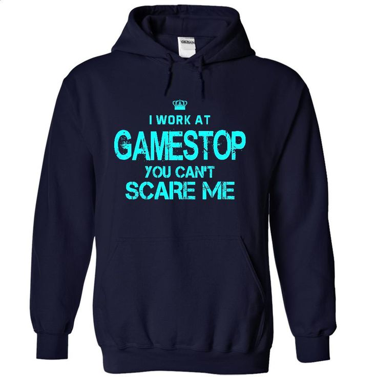 You can't scare me I Work At GameStop T Shirts, Hoodies, Sweatshirts - #shirt maker #design t shirts. ORDER HERE => https://www.sunfrog.com/Funny/You-can-NavyBlue-13071465-Hoodie.html?60505