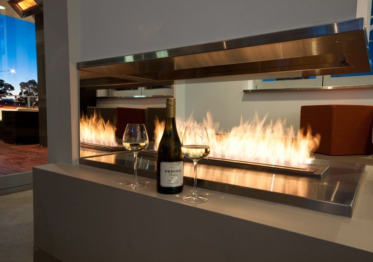 ecosmart fire xl900 bio ethanol burner featured in sirens bar restaurant canberra australia. Black Bedroom Furniture Sets. Home Design Ideas