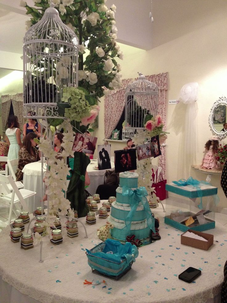 Mesa de ambientaci n en baby shower de ni o mesa de for Mesa baby shower nino