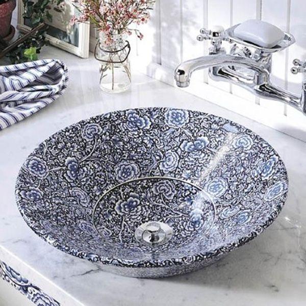 Tvättställ från KOHLER inspirerat av antika kinesiska handfat. Passar både som toppmonterat eller väggmonterat. Vackert fäste i järn finns för väggmontering.