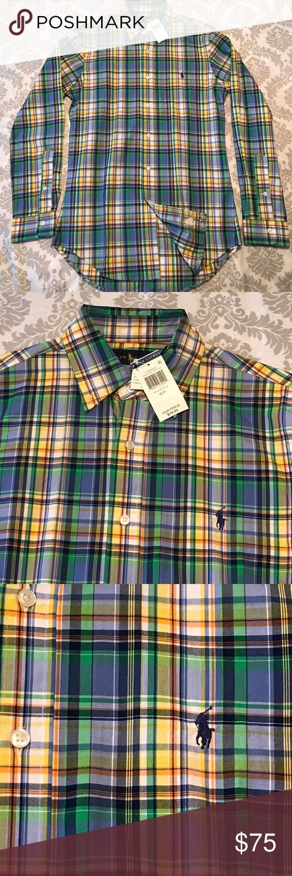 Polo Ralph Lauren Men's long sleeve Polo Ralph Lauren Men's long sleeve shirt. Size S. Mixed in color ( Yellow Pla). Polo by Ralph Lauren Shirts Casual Button Down Shirts