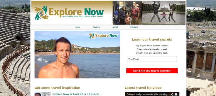 So I decided to write a book about making extended travel affordable and possible...and it's turned into something a wee bit more. I resurrected our website from 10 years ago - 'Explore Now'! If you love travel and would like to go away for more than the normal 2-3 weeks, we will show you how you can plan and afford it! Check out www.explorenowworldtravel.com to get 5 of our 'secrets to extended travel' for free.