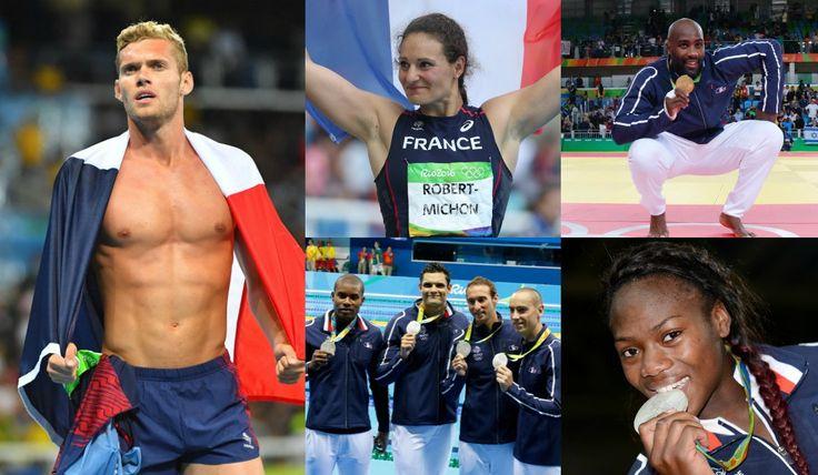Les Français médaillés au JO de Rio