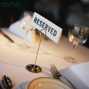 If you want to get a great table at a restaurant, here's a tip! Avoid making the dinner reservation at 7:30pm. Experts say it's because if the restaurant seats you at 7:30, they probably won't be able to fill your table again after you leave...So, they'll be a lot less likely to give you one of the better tables. However, if you make a reservation for 6:45 or 8:15 instead, you're more likely to get one of the best seats in the house!