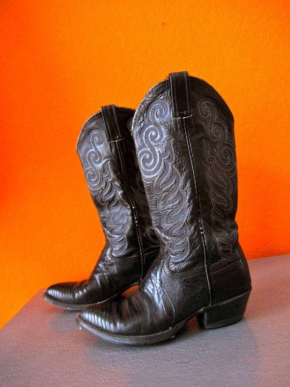 Vintage 70's Western Boho Festival Snakeskin Cowboy by PopLifeArts, $65.00