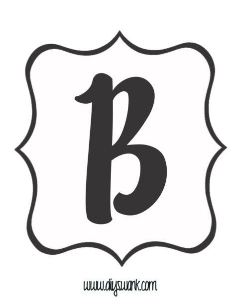 Best Printable Letter For Banner Images On   Banner