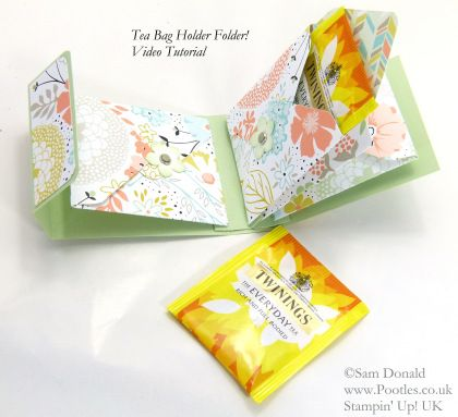 POOTLES Stampin' Up! UK Tea Bag Holder Folder Tutorial ...
